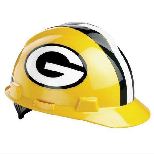 MSA 818395 NFL Hard Hat, Green Bay Packers, Grn/Ylw