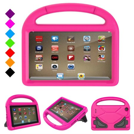 Fire 7 2017 Kids Case, Fire 7 2015 Kids Case, Dteck Light Weight Shock Proof Handle Friendly Stand Kid-Proof Case for All New Amazon Fire 7 inch Display Tablet Cover, Rose