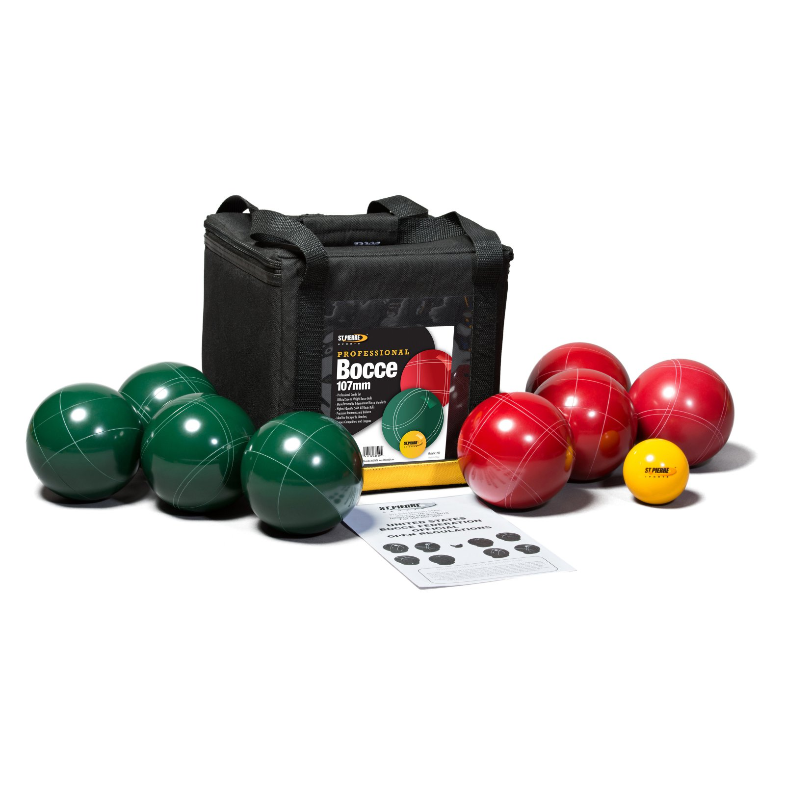 St. Pierre Professional Bocce Set with Nylon Bag