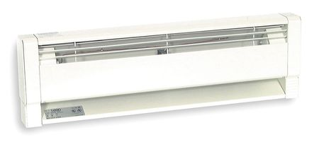 "DAYTON 94"" Hydronic Electric Baseboard Heater, White, 1500 2000W, 208 240V, 3UG29 by Electric Heaters"
