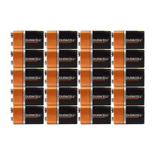20 Count - Duracell MN1604 9V Volt 6LR61 Duralock Coppertop Alkaline Batteries