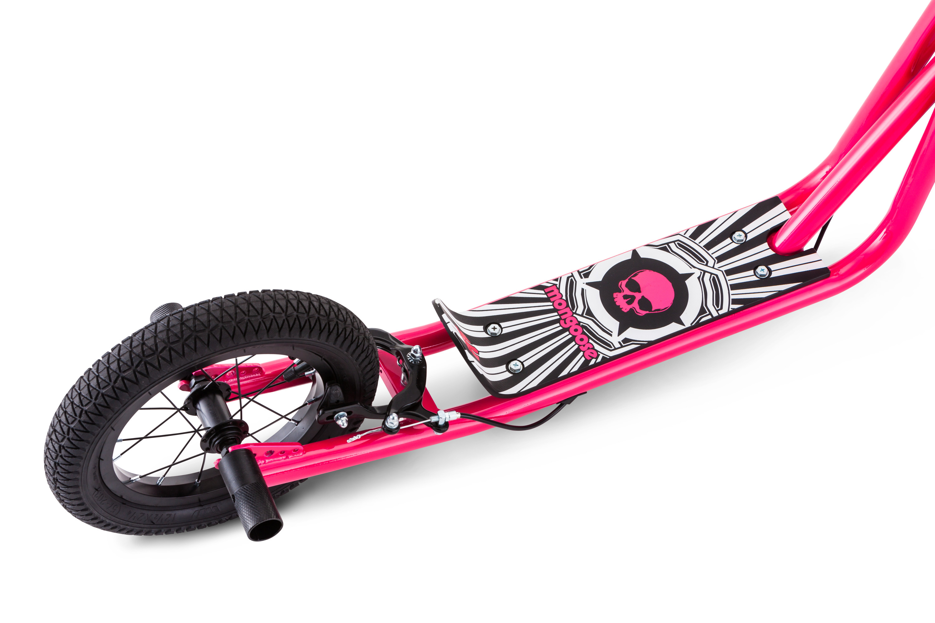 """12/"""" Expo Scooter Alloy Caliper Hand Brakes Stability While Coasting Covered Pink"""