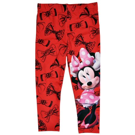 2dd5e1ea700 Minnie Mouse - Disney Minnie Mouse Bows Girls & Toddlers Leggings - Red -  Walmart.com
