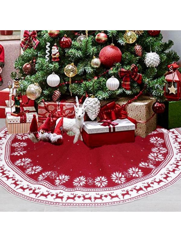 Grey Whitewash Rattan Wicker Christmas Tree Skirt Base Cover Basket in 4 Sizes