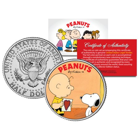 Peanuts VALENTINE'S * Charlie Brown & Snoopy * JFK Half Dollar US Coin Licensed](Peanuts Valentine)
