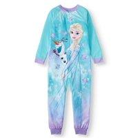 Disney Frozen Elsa and Olaf Blanket Sleeper Onesie Pajama (Little Girls & Big Girls)