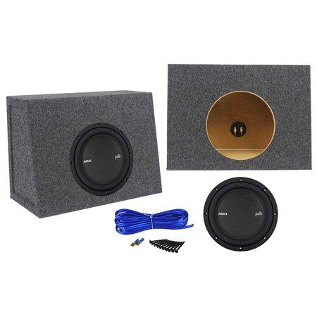 polk audio mm842svc 8 900w svc car audio subwoofer sub+sealed sub box enclosure (900w Car Subwoofer)