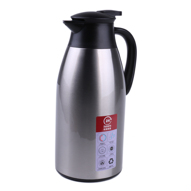 2 Liter Stainless Steel Double Walled Vacuum Insulated Carafe, Press Button Top by Science Purchase