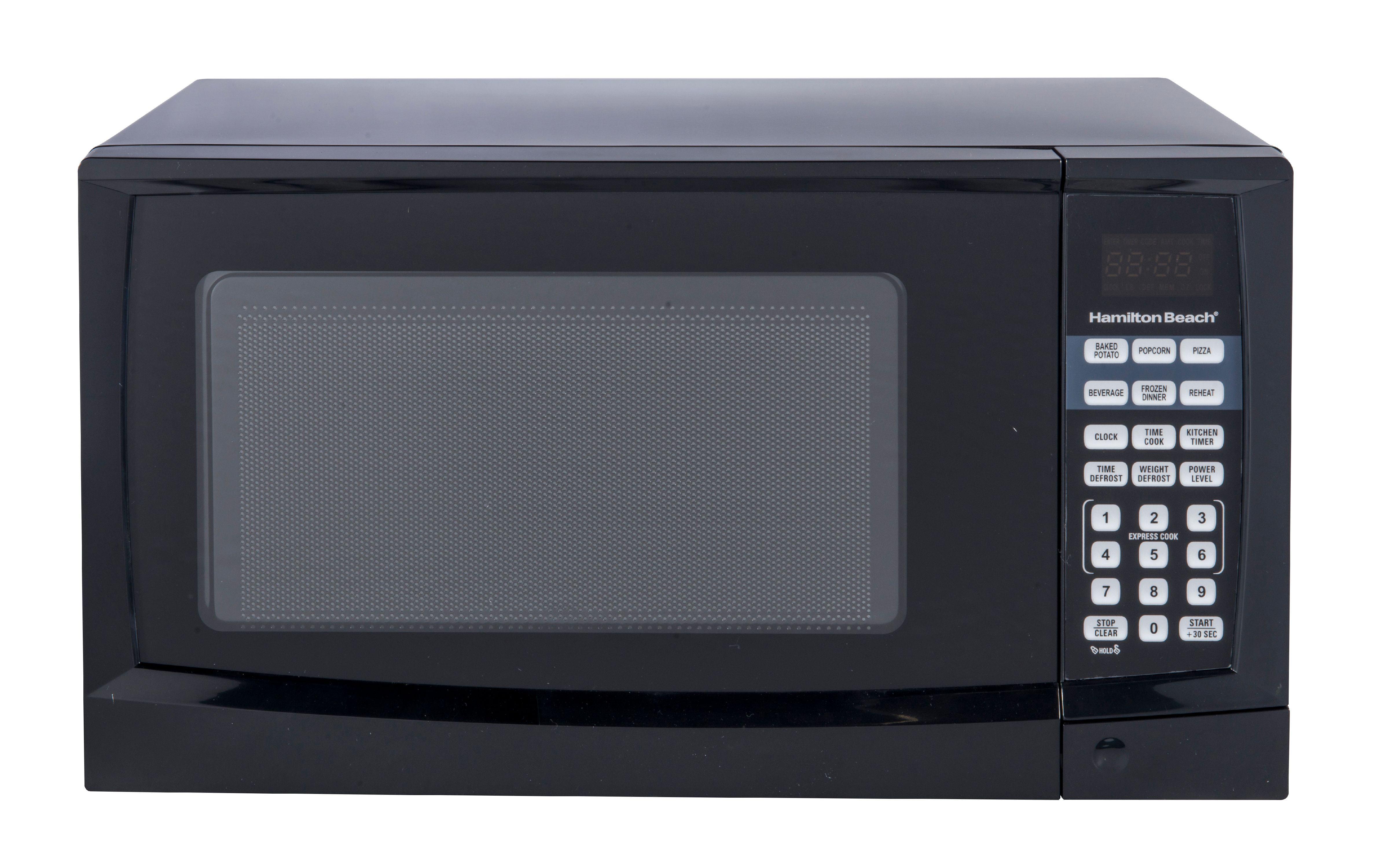hamilton beach 0 9 cu ft digital microwave black walmart com rh walmart com