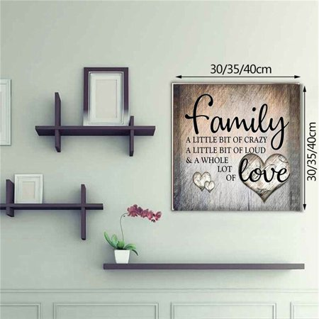 NK HOME DIY Family Love Letter Diamond Painting by Number Kits, Painting Cross Stitch Full Drill Crystal Rhinestone Embroidery Pictures Arts