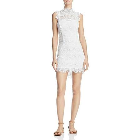 Womens Large Daydream Lace Sheath Dress L