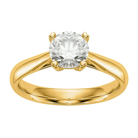 Radiant Fire® Certified Lab Grown 1/2 Ct Round Diamond Solitaire Engagement Ring, SI2 clarity, D E F color, in 14K Yellow - Diamond Color Clarity Chart