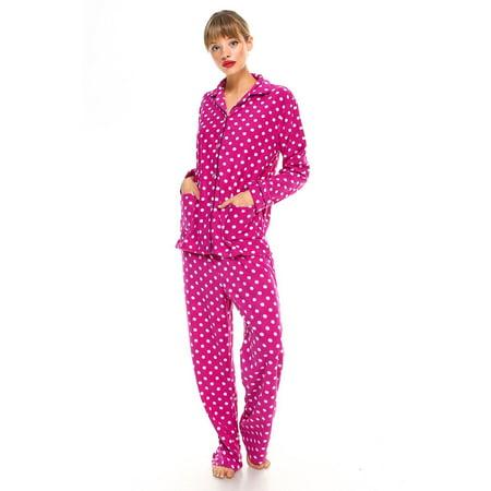 MarCielo - MarCielo Womens Fleece Pajamas 1602bb42b419