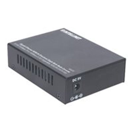 Intellinet Gigabit Ethernet WDM Media Converter - Fiber media converter - Gigabit Ethernet - 10Base-T, 1000Base-LX, 100Base-TX, 1000Base-T - RJ-45 / SC single-mode - up to 12.4 miles - 1310 (RX) / 1550 (TX)