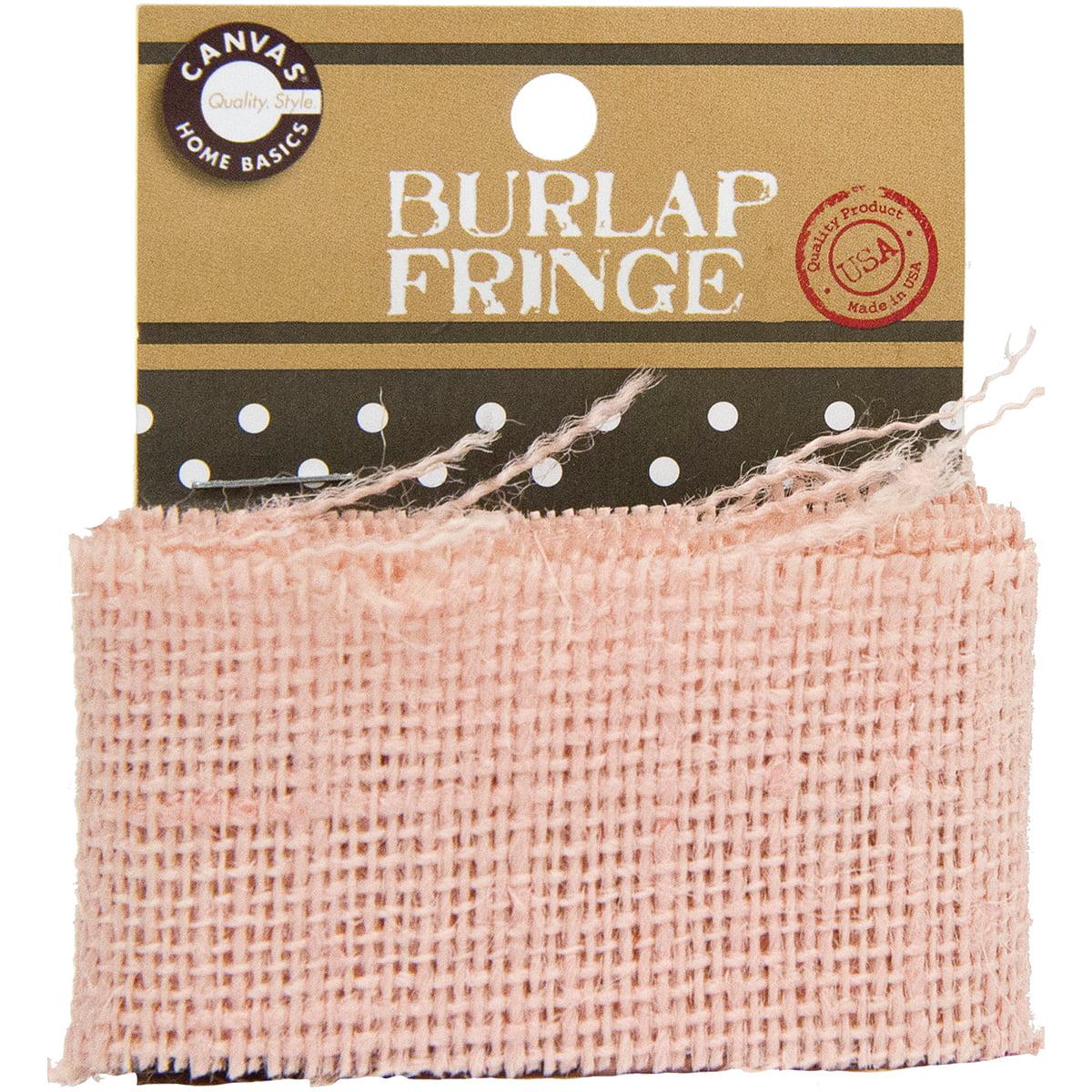 Canvas Corp Burlap Fringe, 1-Yard, Light Pink Multi-Colored