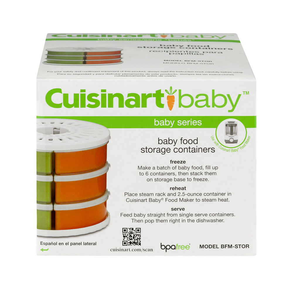 Cuisinart Baby Food Storage Containers, 2.5 oz, 6 pack