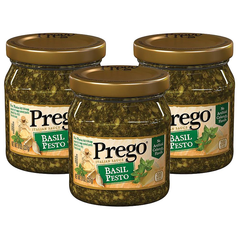 (3 Pack) Prego Basil Pesto Italian Sauce, 8 oz.