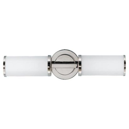 Feiss Inustrial Revolution Polished Nickel 2 Light Wall Sconce