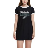Women's Black Philadelphia Eagles Decadence Nightshirt