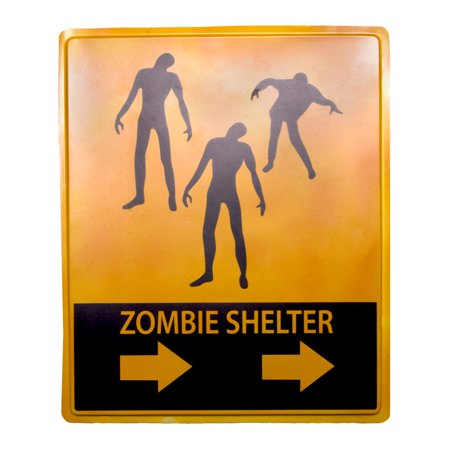 Undead Zombie Shelter 19x16 Halloween Decoration - Halloween Decorations Signs