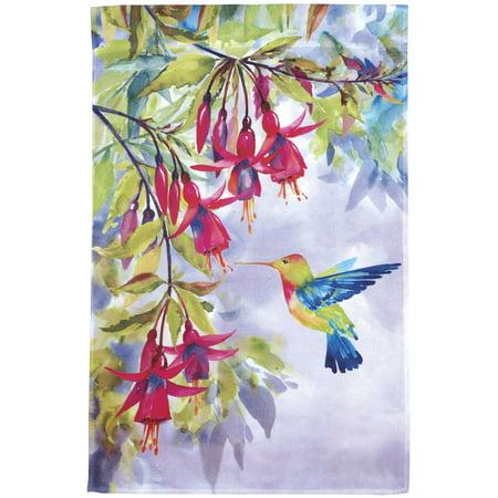 Hummingbird Accent (Hummingbird & Fuchsia Flowers Ganz Garden Accents House Flag (28 x 43 Inch))