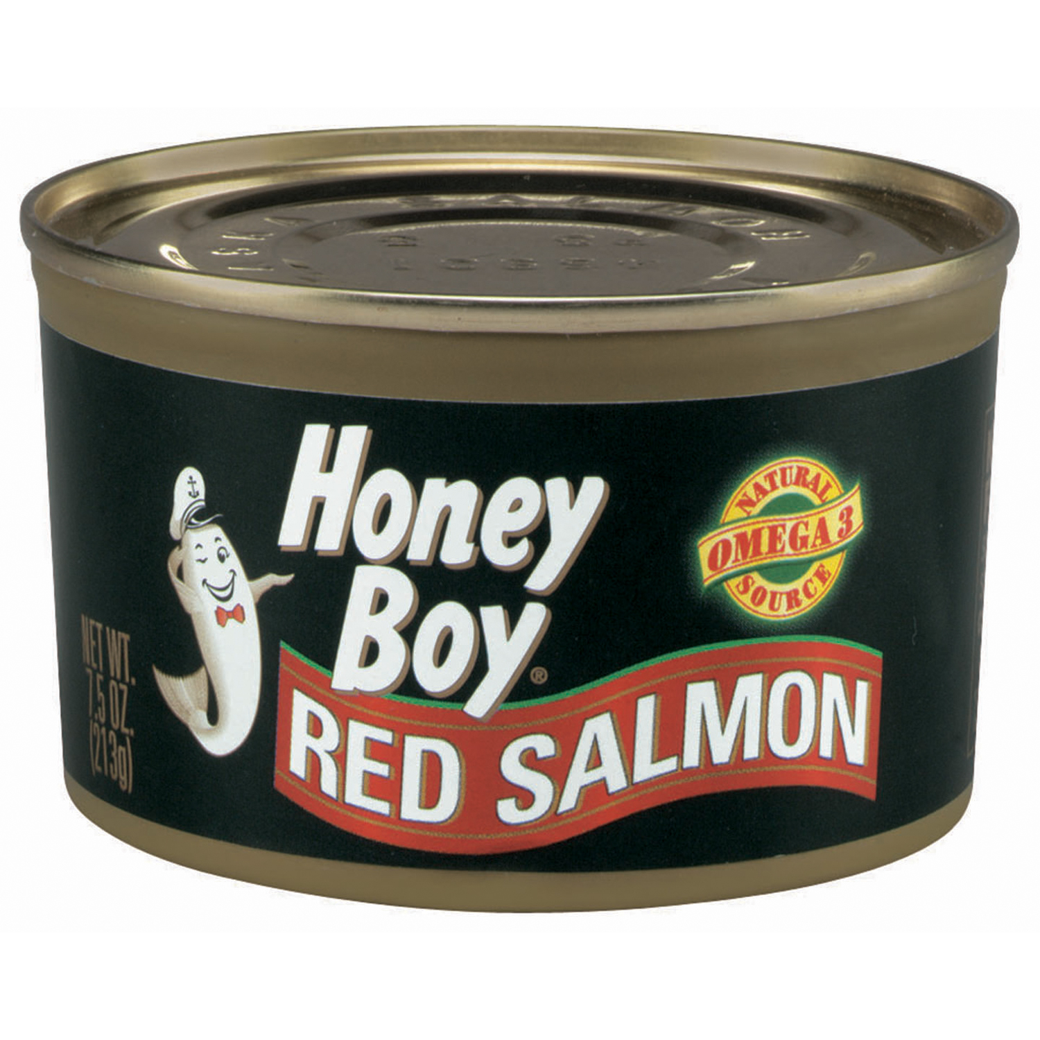 (3 Pack) Honey Boy Red Salmon, 7.5 oz Can