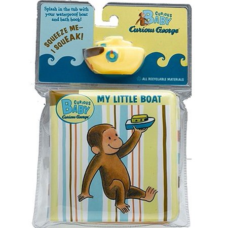 Curious Baby My Little Boat (Curious George Bath Book & Toy Boat) - Little Man In The Boat