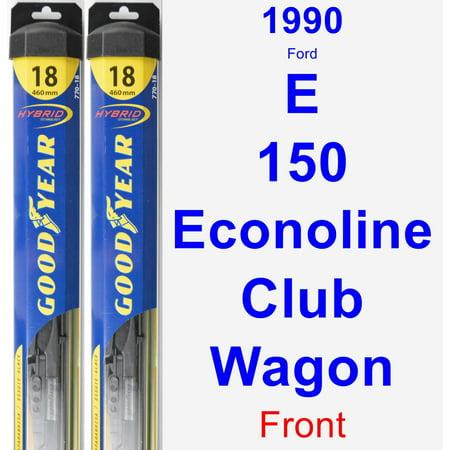 1990 Ford E-150 Econoline Club Wagon Wiper Blade Set/Kit (Front) (2 Blades) -