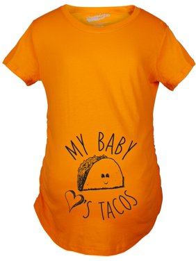 3d83ca5c5cba6 Product Image Maternity My Baby Loves Tacos Funny T shirt Cute Announce  Pregnancy Bump Tee