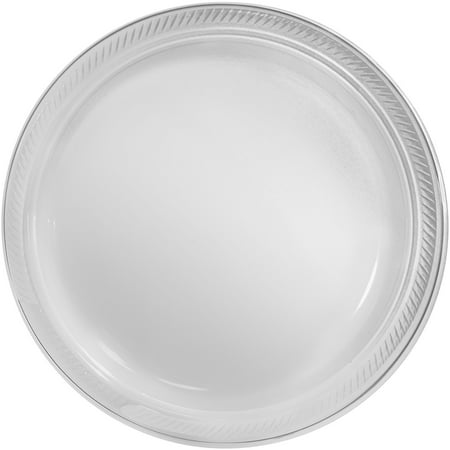 Amscan Big Party Pack Plastic Lunch Plates, 10.5-Inch, Clear, 50 Count (Big Plate)