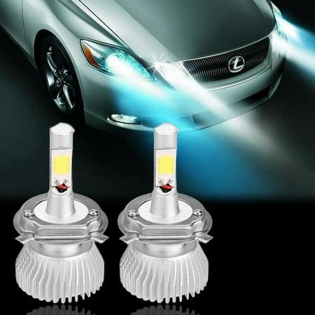 2x H4 30W LED Car Headlight 6000LM Vehicle High Power Light Bulb 10V-30V