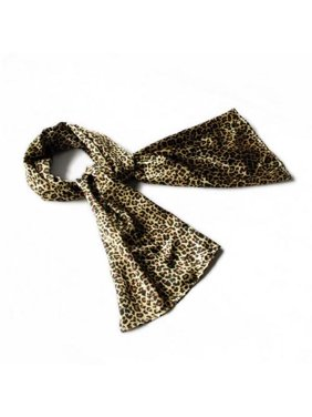 BRA-SCA01035-S Blancho Gold Leopard Design Fashion Exquisitely Soft Natural Silky Scarf/Wrap/ShawlSmall