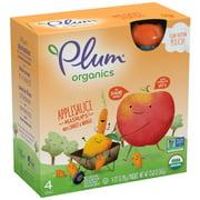 Plum Organics Applesauce Mashups Carrot & Mango, 3.17oz (Pack of 4)