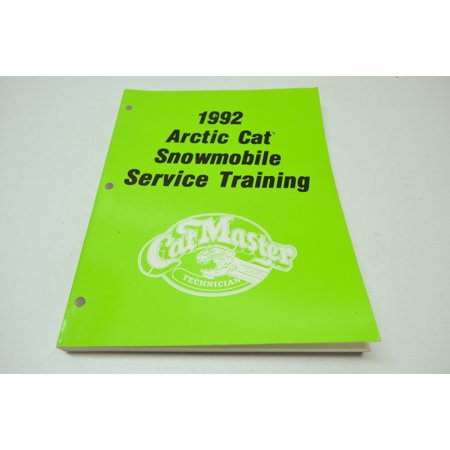 Car Service Manual - Arctic Cat 2254-758 1992 Snowmobile Service Training Manual QTY 1