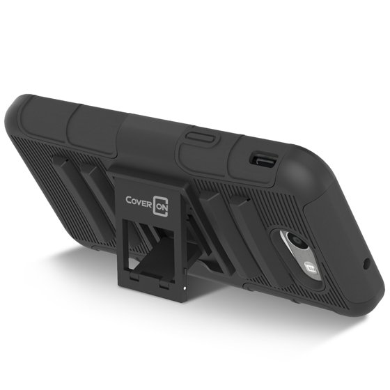coveron samsung galaxy j3 emerge / j3 (2017 version) / amp prime 2 / j3 prime case, explorer series protective holster belt clip phone cover - Walmart.com