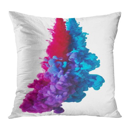 - ECCOT Pink Cloud Abstract Blue and Red Paint Splash Purple Liquid Water Bright Close Colour Pillowcase Pillow Cover Cushion Case 20x20 inch