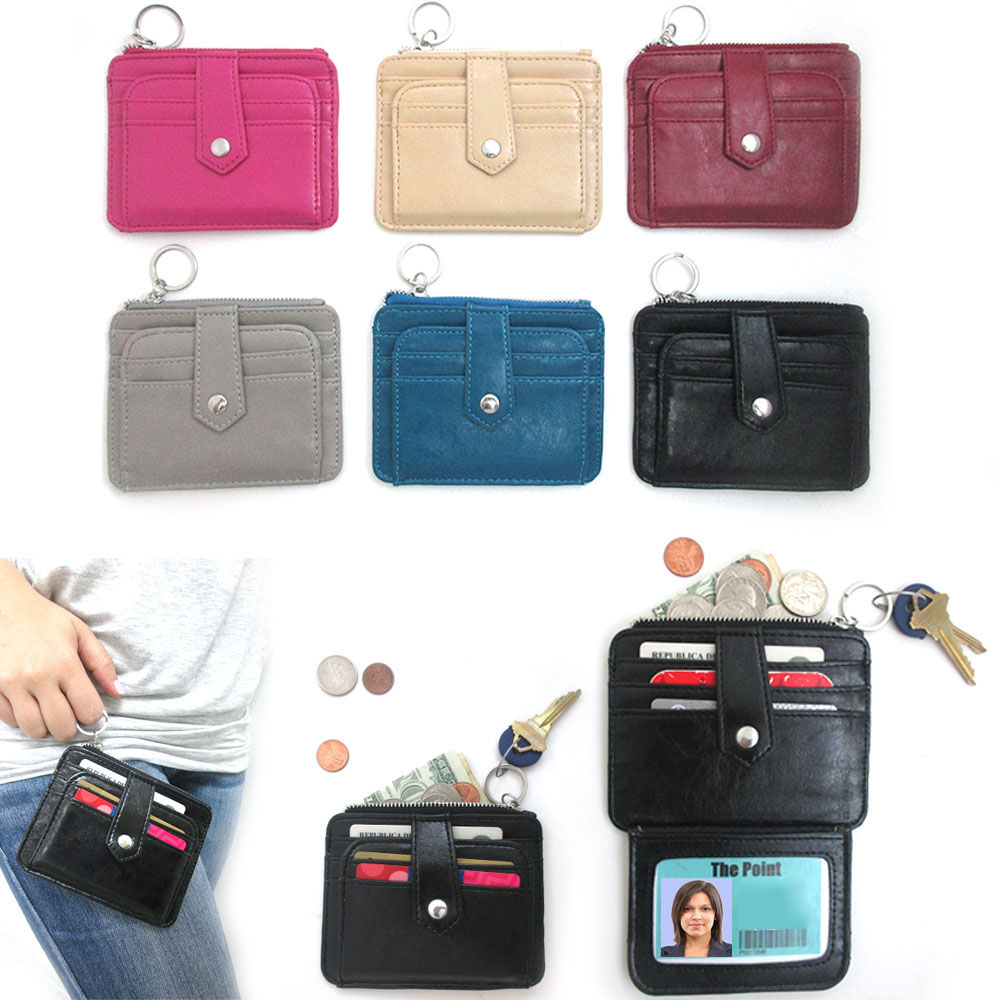 1 Womens Fashion Leather Small Wallet Card Holder Zip Coin Purse Clutch Handbag