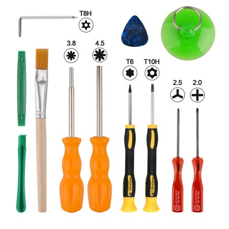 TSV 12Pieces Triwing Screwdriver Set, NS Switch Security Game Bit Set Repair Tool Kit with Spudger Opening Pry Bar Suction Cup Tweezers