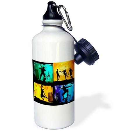 3dRose Skateboarding baseball basketball soccer, Sports Water Bottle, - Basketball Water Bottles