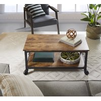 Better Homes & Gardens Rustic Country Coffee Table, Weathered Pine Finish