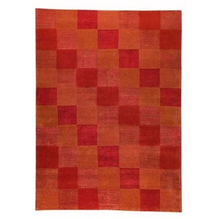 Hokku Designs Check Orange Rug