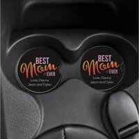 Best Mom Ever Set of 2 Personalized Car Coasters
