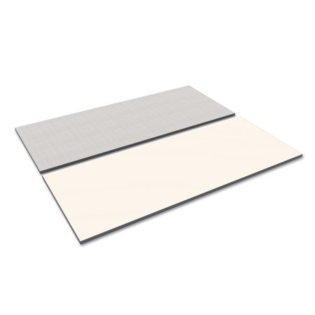 Alera Reversible Laminate Table Top, Rectangular, 71 1/2w x 29 1/2d, White/Gray - White Table Top