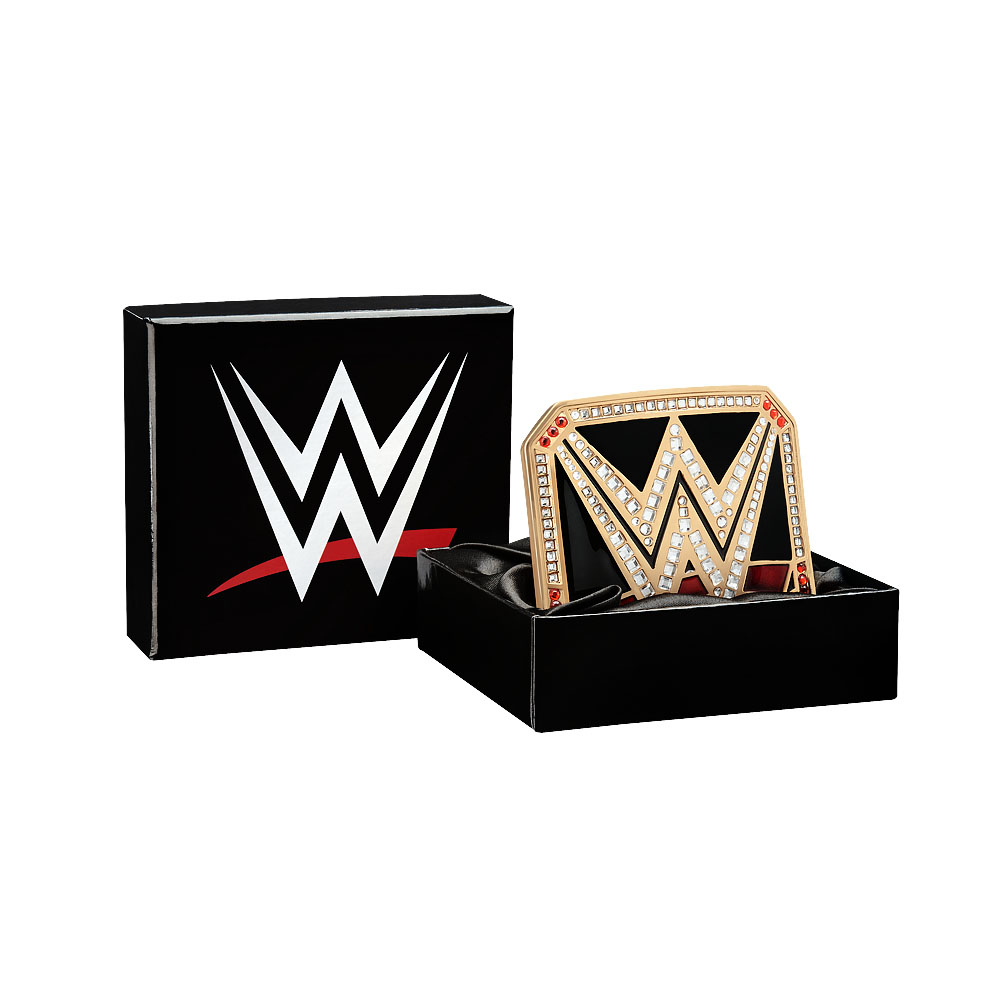 Official Wwe Authentic  World Heavyweight Championship Belt Buckle Gold