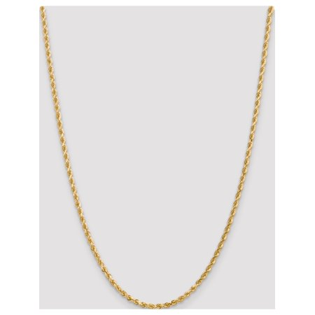 10k Yellow Gold 3mm Handmade Diamond-cut Rope Chain - image 2 of 5