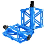 Bicycle Pedals Aluminum Alloy Flat Platform Mountain Bike Pedals Pedal Universal 9/16 Inch Road Pedals for BMX/MTB Bike City Bike Blue