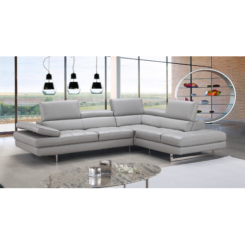 Orren Ellis Ashburton Leather Sectional