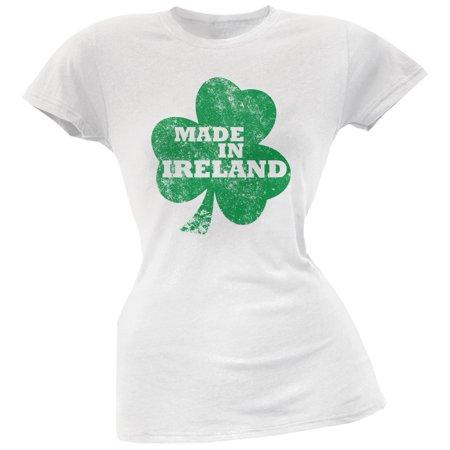 St. Patricks Day - Made In Ireland White Soft Juniors T-Shirt