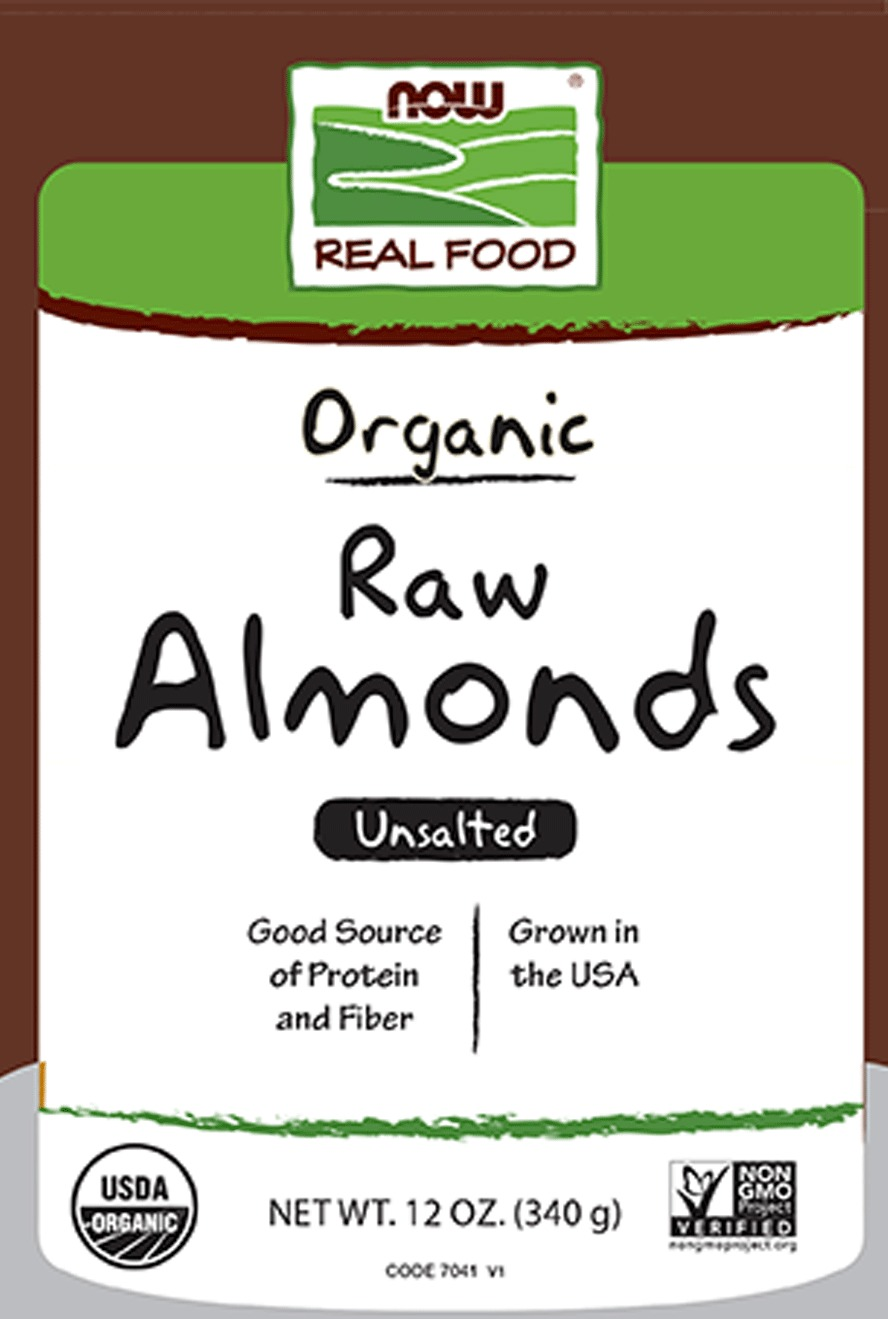 Organic Raw Almonds Now Foods 12 oz Seed