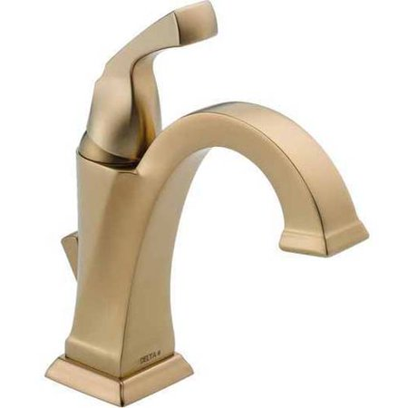 Delta Dryden Single Handle Bathroom Faucet, Champagne Bronze